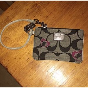 Coach Metallic Poppy Wristlet